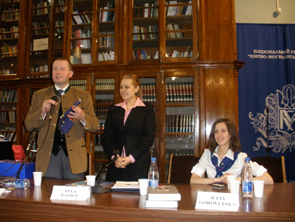 Das Treffen mit den Studenten von Kiewer Mohyla-Akademie